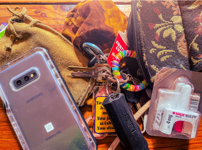 Charity Frye: Phone, Wallet, Keys, Mask, Narcan