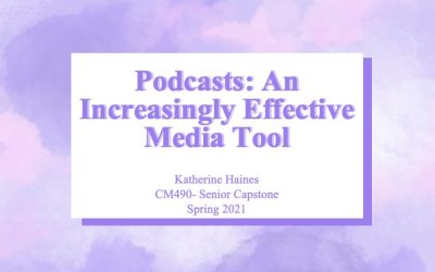 Kathrine Haines: Podcasts: An Increasingly Effective Media Tool