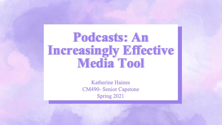 Katherine Haines: Podcasts: An Increasingly Effective Media Tool