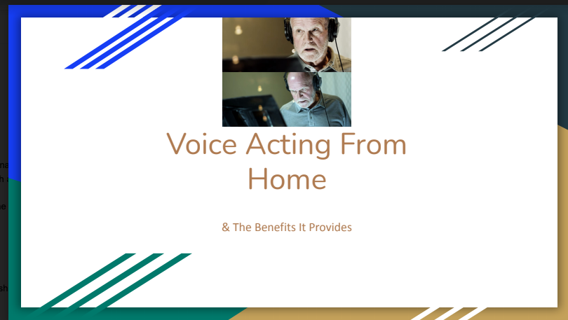 Alexander Wilczewski: Voice Acting from Home